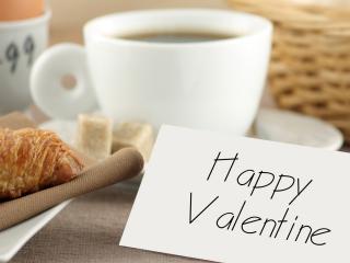 обои для рабочего стола: День Св. Валентина - Завтрак и записка
