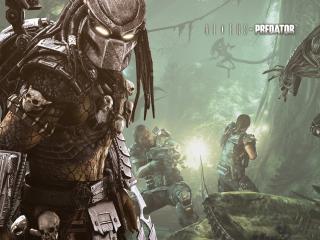 обои Aliens vs predator,   перестрелка с чужыми фото