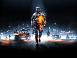 обои Battlefield 3,   солдаты и техника в наступлении фото