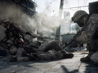 обои Battlefield 3,   солдаты под обстрелом фото