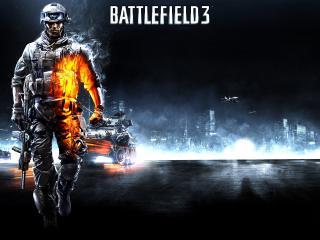 обои Battlefield 3,   танки и боец фото