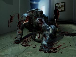 обои Fear,   альма напала на солдата фото