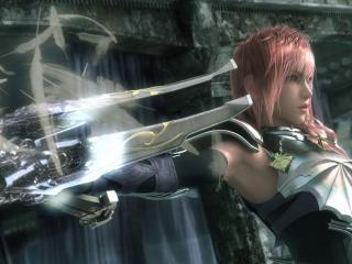 обои Final fantasy,   с оружием и в доспехах фото