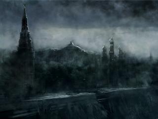 обои Метро 2033,   разрушение у кремля фото