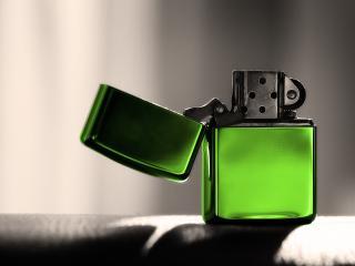 обои Zippo,   зеленая зажигалка фото