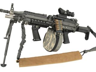 обои Пулемет M249 белый фон фото