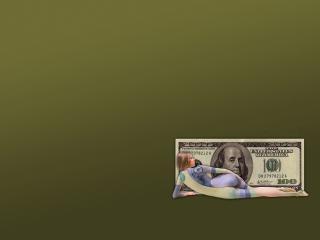 обои Боди-арт американский доллар фото