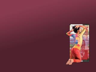 обои Девушка на коленях боди валюта фото