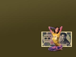 обои Боди-арт японской йены фото