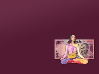 обои Поза лотоса индийская валюта фото