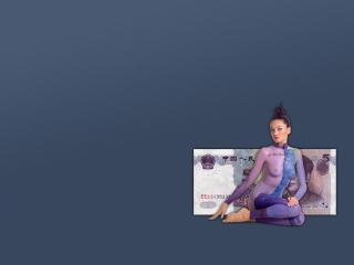 обои Боди-арт китайской валюты фото