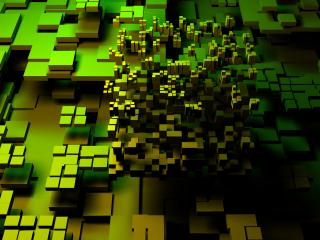 обои Зелёные абстракции фото