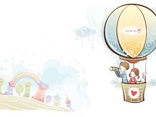 обои Воздушный шар по имени любовь фото