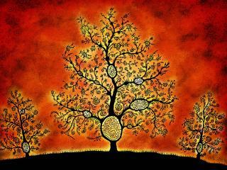 обои Деревья в орнаменте фото