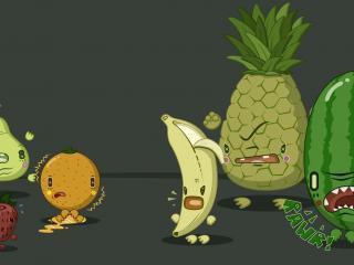 обои Компания фруктов фото