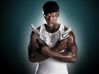 обои Афроамериканец с двумя пистолетами фото