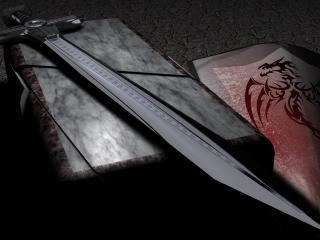 обои Обоюдоострый меч на камне фото