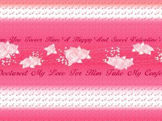обои День Св. Валентина - Нежные слова фото