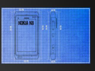 обои Nokia n8 чертеж фото