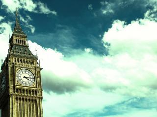 обои Часы на башне лондонского Биг-Бена фото