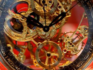 обои Прозрачные часы,    механизм фото