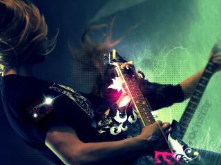 обои Гитарист на рок концерте фото