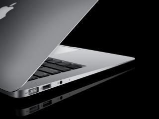 обои Apple открытый ноутбук фото