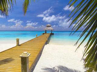 обои Пирс у воды на багамах фото