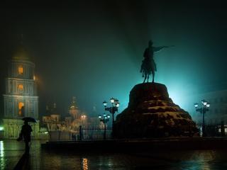 обои Киевская площадь с памятником богдану хмельницкому фото