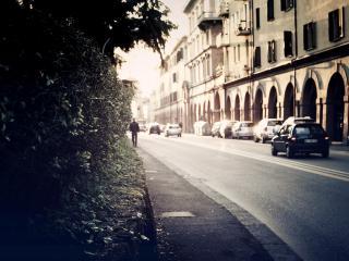 обои Городская улица с автомобилями фото