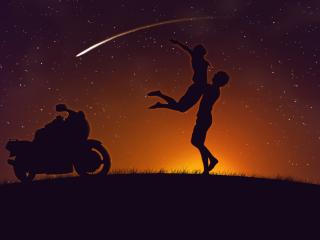 обои Встреча под звездным небом фото