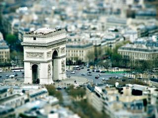 обои Парижская триумфальная арка с площадью фото