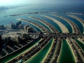 обои Искусственные острова в Дубае фото