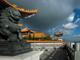 обои Китайская скульптура дракона фото