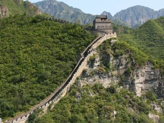 обои Китайская стена в горах фото