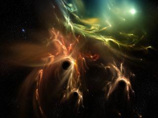 обои для рабочего стола: Абстрактная туманность в космосе