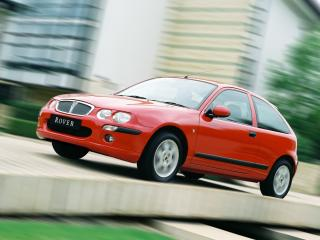 обои Rover 25 3-door 1999 красная фото