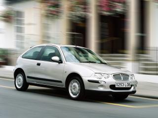 обои Rover 25 3-door 1999 серебристая фото