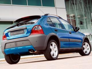 обои Rover 25 Streetwise 5-door 2003 синий фото