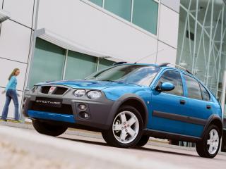 обои Rover 25 Streetwise 5-door 2003 синяя фото