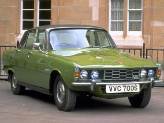 обои для рабочего стола: Rover 3500S (P6) 1968 зеленая