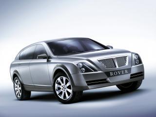 обои для рабочего стола: Rover TCV Concept 2002 серебристая
