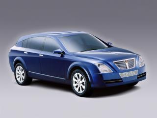 обои для рабочего стола: Rover TCV Concept 2002 синяя