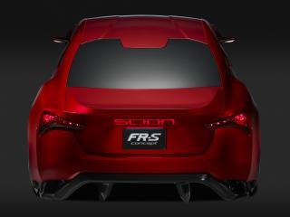 обои для рабочего стола: Scion FR-S Concept 2011 красная
