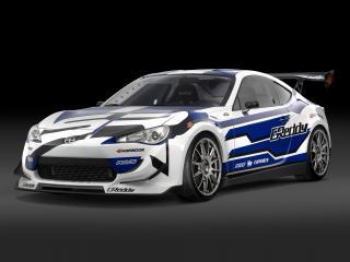обои для рабочего стола: Scion FR-S Race Car 2012 боком