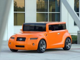 обои Scion Hako Coupe Concept 2008 оранжевая фото