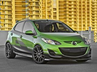 обои Mazda 2 by 3dCarbon 2011 спереди фото