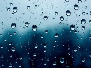 обои Капли дождя на стекле фото