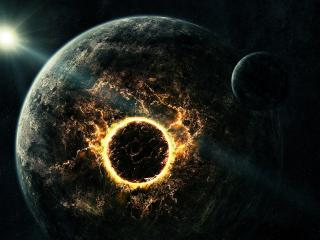 обои Колцевой взрыв на планете фото