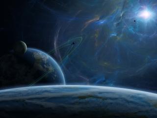 обои Магнитные бури в космосе фото